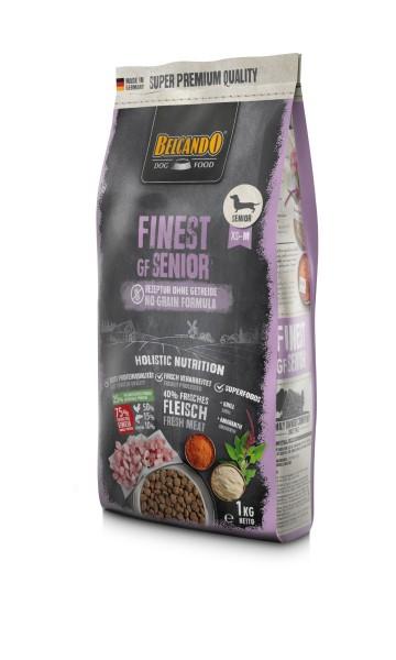 Hunde Trockenfutter - Finest Senior mit Geflügel 1kg - Getreidefrei Belcando Hundefutter