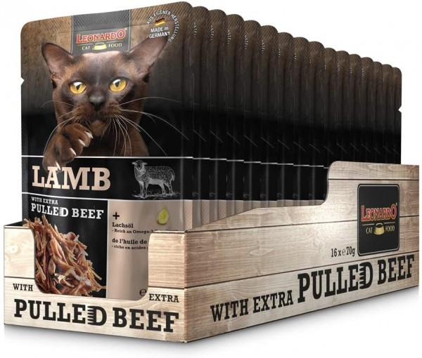 Leonardo Frischebeutel Lamb mit Fleischstreifen [Pulled Beef] 16x 70g