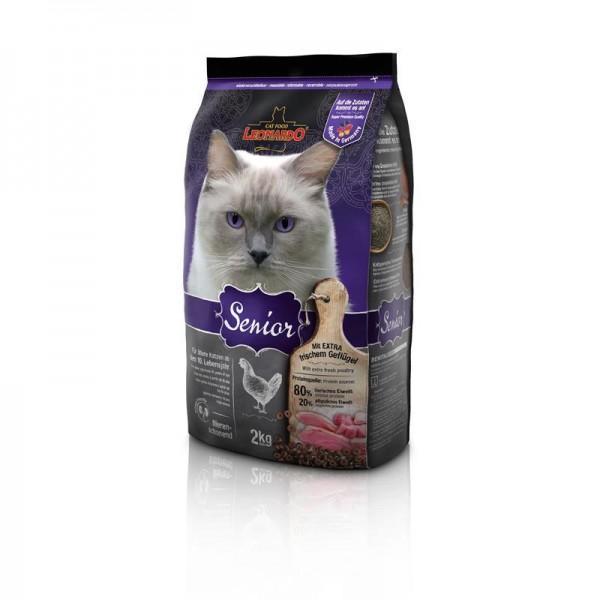 Katzen Trockenfutter - Senior mit Geflügel und Reis 2Kg - Leonardo Katzenfutter - leichtverdaulich