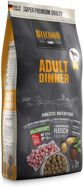 Belcando Adult Dinner Hundefutter 1kg | Trockenfutter für Hunde | Alleinfuttermittel für ausgewachsene Hunde Aller Rassen ab 1 Jahr