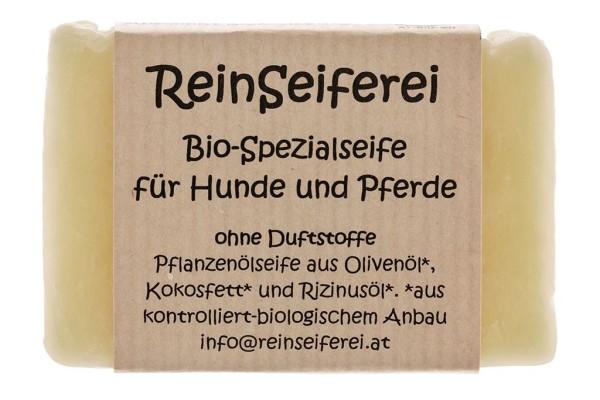 BIO - Fellpflege Spezialseife für Hunde und Pferde - vegane Naturseife - aus Österreich - 75g