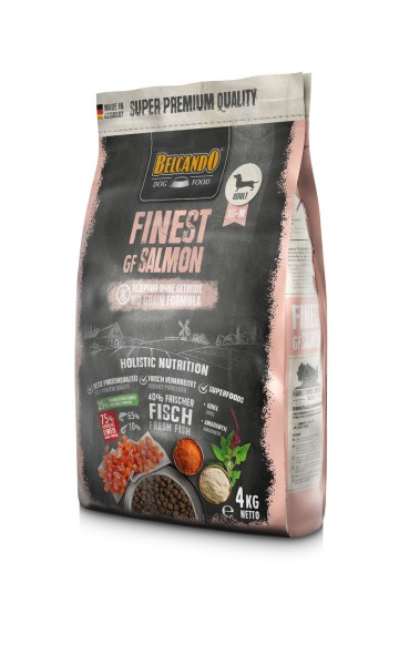 Hunde Trockenfutter - Adult GF Salmon mit Lachs 4kg - Belcando Hundefutter - getreidefrei