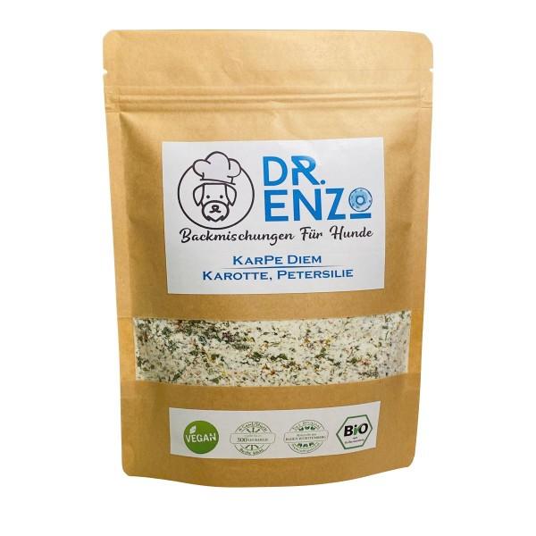 Dr. Enzo BIO Backmischung für Hundekekse - KarPe Diem - Karotte, Petersilie - 200g - nur 4ct pro Keks