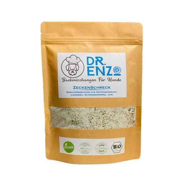Dr. Enzo BIO Backmischung für Hundekekse - ZeckenSchreck - Zistrosenkraut, Lavendel - 200g - nur 4ct pro Keks