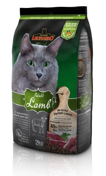 Katzen Trockenfutter - Adult Lamb mit Lamm und Reis 2Kg - Leonardo Katzenfutter - leichtverdaulich