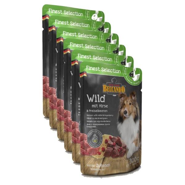 Belcando 6 x 300g Wild mit Hirse und Preiselbeeren Frischebeutel