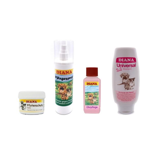 Hunde Körperpflege Set - Shampoo -Pflegespray - Ohrfluid - Pfotenschutz